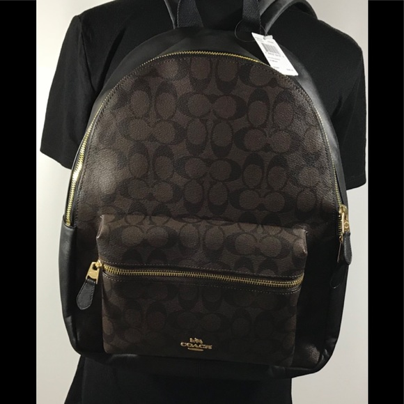 c5f9ebaeb7 NWT Authentic Coach Signature Charlie Backpack